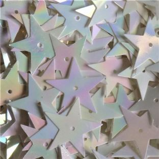 NEW 15mm Mother of Pearl Effect Star Sequins x 10g